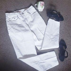 Faded Glory Strech Womens Straight Leg White Jeans
